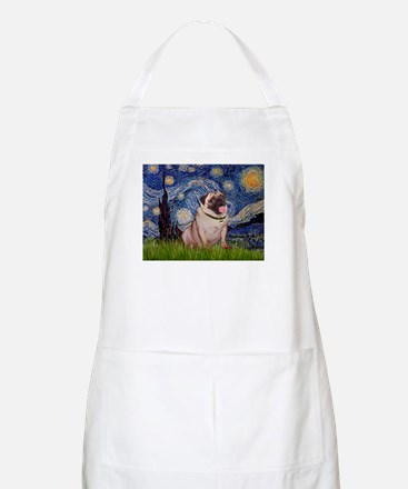 Starry Night and Pug Apron
