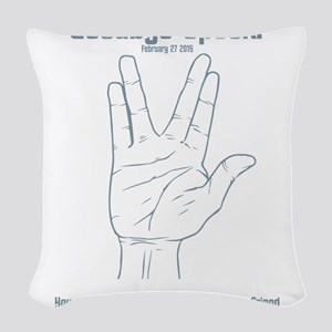 GoodBye Spock Woven Throw Pillow