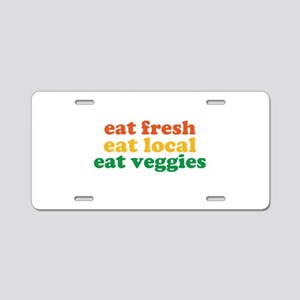 Fresh Local Veggies Aluminum License Plate