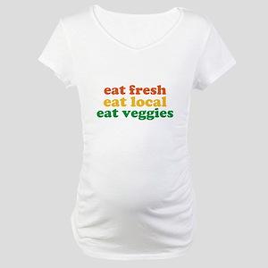 Fresh Local Veggies Maternity T-Shirt