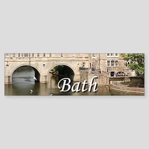 Pulteney Bridge, Avon River,Bath, E Bumper Sticker