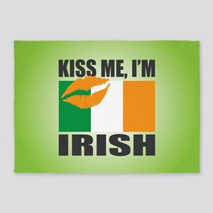 Kiss Me I'm Irish 5'x7'Area Rug