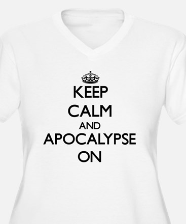 Keep Calm and Apocalypse ON Plus Size T-Shirt