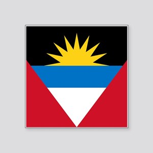 "Antigua Barbuda Flag Square Sticker 3"" x 3"""