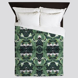 banana leaf Queen Duvet