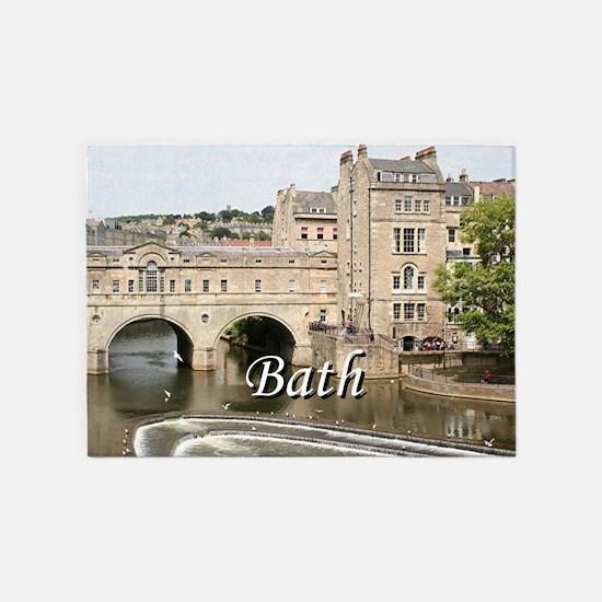 Pulteney Bridge, Avon River,Bath, E 5'x7'Area Rug
