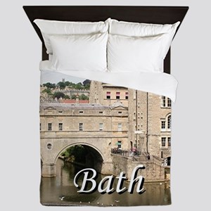 Pulteney Bridge, Avon River,Bath, Engl Queen Duvet