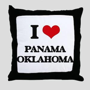I love Panama Oklahoma Throw Pillow