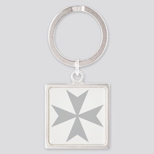 Silver Maltese Cross Keychains