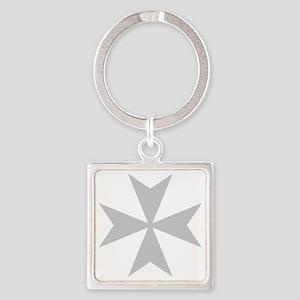 Silver Maltese Cross Keychains