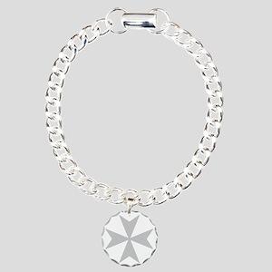 Silver Maltese Cross Bracelet