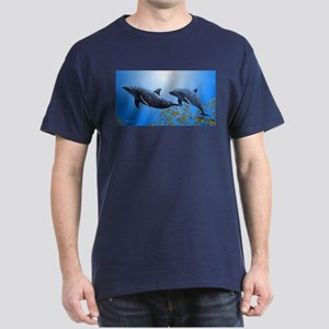 Two Dolphins Dark T-Shirt