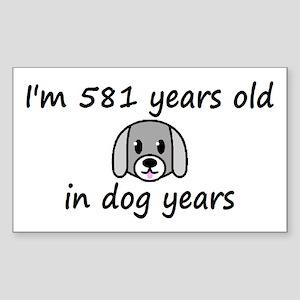83 dog years 2 - 3 Sticker