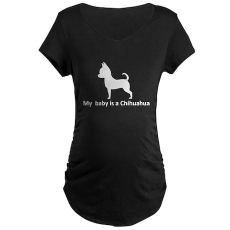 My Chihuahua Maternity Dark T-Shirt