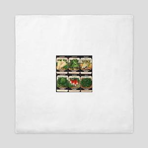 Vegetable Packets Six Queen Duvet