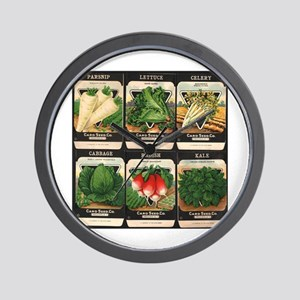 Vegetable Packets Six Wall Clock