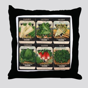 Vegetable Packets Six Throw Pillow