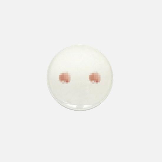 Censored Mini Button