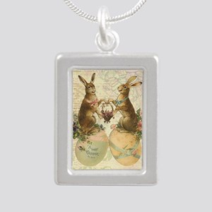 Vintage French Easter bunnies Necklaces