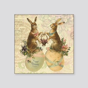 Vintage French Easter bunnies Sticker