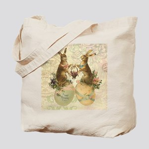 Vintage French Easter bunnies Tote Bag