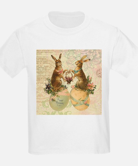 Vintage French Easter bunnies T-Shirt