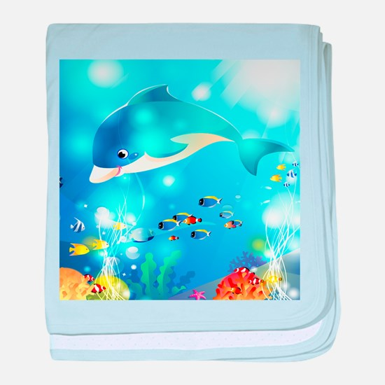 Fishes In The Sea baby blanket