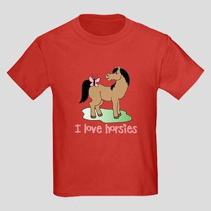 Cute horse lover girls Kids Dark T-Shirt