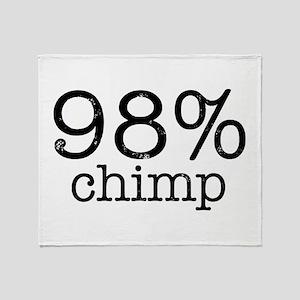 98% Chimp Throw Blanket