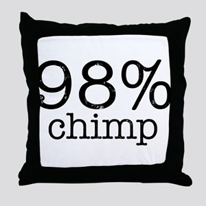98% Chimp Throw Pillow
