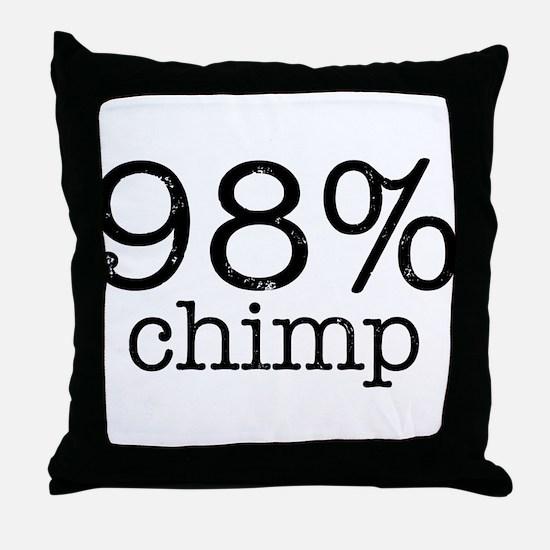 98% Chimp Throw Pillow