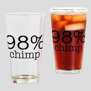 98% Chimp Drinking Glass