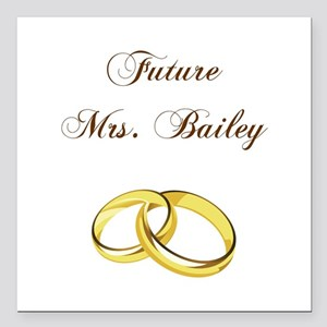 "MRS. BAILEY Square Car Magnet 3"" x 3"""