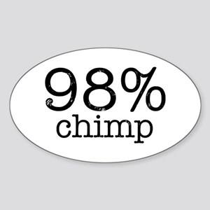 98% Chimp Sticker (Oval)