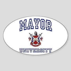 MAYOR University Oval Sticker