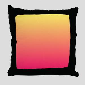 pink orange fuschia ombre Throw Pillow
