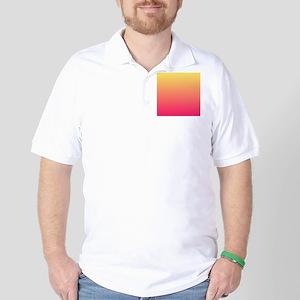 pink orange fuschia ombre Golf Shirt