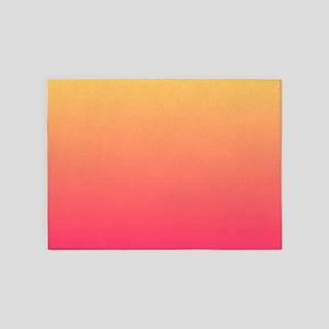pink orange fuschia ombre 5'x7'Area Rug