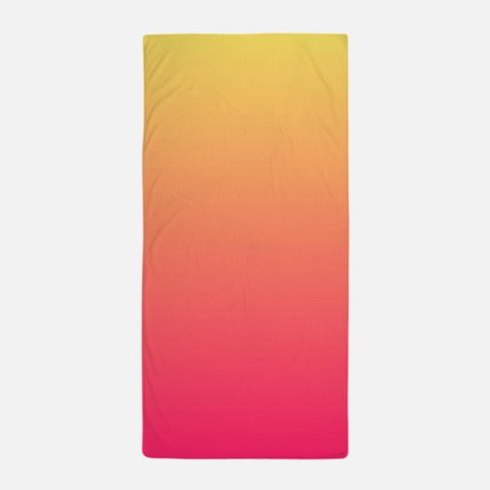 pink orange fuschia ombre Beach Towel