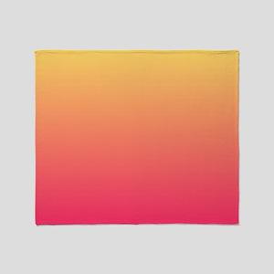 pink orange fuschia ombre Throw Blanket