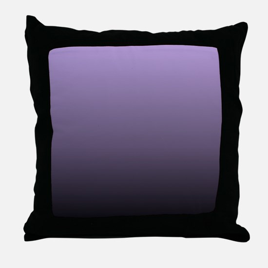 black purple ombre Throw Pillow