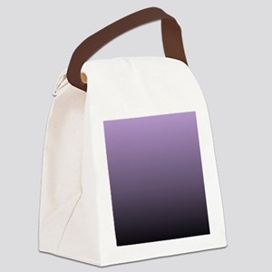 black purple ombre Canvas Lunch Bag