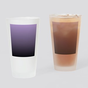 black purple ombre Drinking Glass