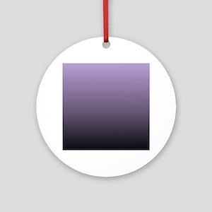 black purple ombre Ornament (Round)