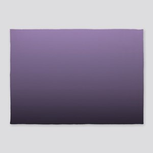 black purple ombre 5'x7'Area Rug