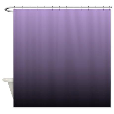 Black Purple Ombre Shower Curtain