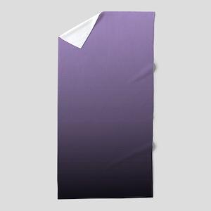 black purple ombre Beach Towel
