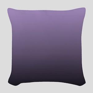 black purple ombre Woven Throw Pillow