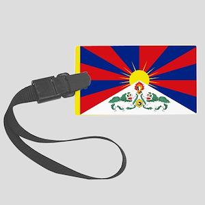 Tibet flag Large Luggage Tag