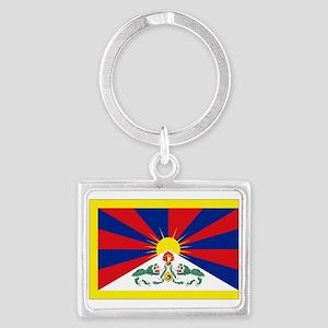 Tibet flag Landscape Keychain